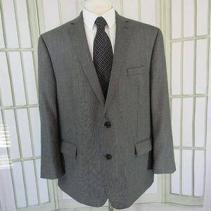Michael Kors 50R 2 button hound tooth suit jacket